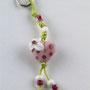 VERKAUFT! Rosa Herz mit pinkigen Pünktli und weisser Blume; Herz ca. 1,5 cm breit