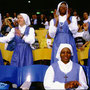 Catholic nons celebrating in Maracana stadium