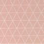 puderrosa mit großen Dreiecken naturweiß; 100% Baumwolle