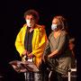 Michel Bourdot, référent JAZZ360 pour cette création musicale Siladigueron, Carole Simon-Tocah. Lundi 7 juin, Cénac