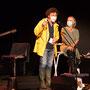Jack Tocah, Michel Bourdot, référent JAZZ360 pour cette création musicale Siladigueron, Carole Simon-Tocah. Lundi 7 juin, Cénac
