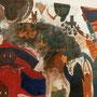 """Großes Pest-Gemälde - """"Auf der Gasse und hinter dem Ofen"""", Jörg Müller, Anita Siegfried, Jürg E. Schneider"""