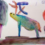 """Hirschaquarell - """"Der neunfarbige Hirsch"""", Yaxin Yang"""