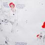 """""""Rekonstruktion eines möglichen Verbrechens"""" (Ausschnitt) Bleistift, Abrieb, Tinte"""