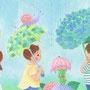 6月 しっとりしとしと、あじさいの傘さして。