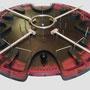 HADACO - modello in plastica nera e rossa