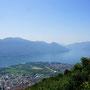 der Blick auf den Lago Maggiore