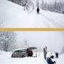tie..fschneeabfahrt -dann ->> auto freischaufeln
