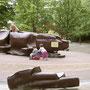 sculptures ludiques pour les tous petits au Parc du Millénaire à La Défense