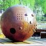 """""""la boule sensorielle"""" à Strasbourg - bois de séquoia, cèdre et chêne"""