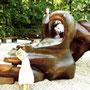 sculpture en séquoia