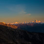 Weisshorn, Zinal Rothorn, Dent Blanche und Matterhorn.... Nur ein paar von den vielen Gipfeln.....