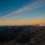 Mont Blanc und Diablerets gesehen von unserem Frühstücksplatz auf 2800m