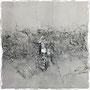 Postversand möglich - charmes silver 40 x 40 x 2 cm / acryl on canvas