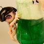 妖怪とかし小僧 石粉粘度/アクリル絵の具/レジンキャスト