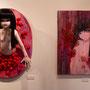 少女 (左) ラドール/レジンキャスト/アクリル絵の具で着色