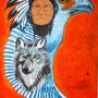 IndianerWolf (2006), 160 x 100 cm