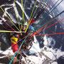 Paragleiter Pilot und Passagier, Sicht von oben (Foto: Austriafly)