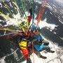 Paragleiter Tandemflug Winter 2012 mit Austriafly (Foto: Austriafly)