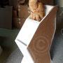 des présentoirs en carton