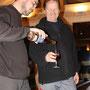 Dégustation de vin de myrtille