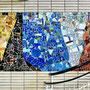 """Gesundheitshaus Dortmund, """"Sanitas"""" in 6 Variationen - 2. Etage: Abstraktes Glas-und Keramikmosaik von Wilhelm Strauß (1902-1985)"""
