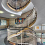 """Gesundheitshaus Dortmund, """"Sanitas"""" in 6 Variationen - 1. Etage: Abstraktes Glas-und Keramikmosaik von Gustav Deppe (1913-1999)"""