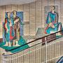 """Gesundheitshaus Dortmund, """"Sanitas"""" in 6 Variationen - EG: Figürliches Glasmosaik von Wilhelm Kornfeld (1926-2007)"""