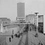 """""""Hüttenmann"""" Von Friedel Dornberg 1953 - 1. Standort vor dem Hauptbahnhof (unten links) Quelle: Denkmalbehörde ©"""
