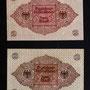 Geldscheine, die sich in einer Kupferröhre befanden, die bei der Grundsteinlegung des Theodor Fliedner Heims, Wittekindstr., eingemauert wurde.