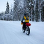 Biking in Lapland.