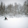Biking in Lapland. Picture: Virginie Meigné.