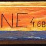 Peinture sur céramique Une fl^che pour le Totem place Neptune.