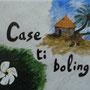 Peinture sur céramique: Une plaque de maison personnalisée.