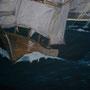 Tempête en cours huile (115 x 81) cm