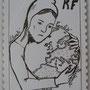 feutre sur papier projet de timbre