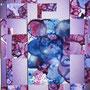 「紫の構成」  post card size/ 2013年作