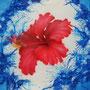 「リゾート」 A3/ 2007年作  ●どぅなん唄者・西泊喜則さん2ndアルバム CDジャケット内掲載作品