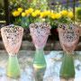 花吹雪グリーンオパール高台杯