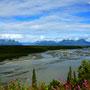 Chulitna River mit dem Denali NP im Hintergrund