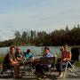 Geburtstagsessen am Tanana River