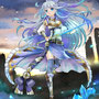 青水晶の騎士。清楚系お嬢様騎士をテーマにデザインしました。