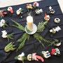 Eine Kerze: Symbol des Lebens und des Todes