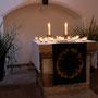 Kleine Altar-Lichtillumination