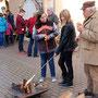 Er sorgt für das Feuer: Helmut Wagner