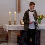 Begrüßung zum Gottesdienst durch Malte
