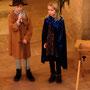 Zoe und Max als Maria und Josef