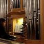 an der Orgel Sabine Agricola