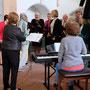 Kurzes Ansingen des Kirchenchores