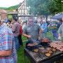 Bratwurst und Steaks